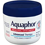 Aquaphor Healing Ointment - Moisturizing Skin Protectant for Dry Cracked Hands, Heels and Elbows - 14 oz. Jar
