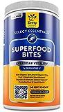 Superfood Chewable Treats for Dogs - Grain Free Fruit & Veggies Dog Supplement - Spirulina, Pumpkin, Coconut Oil & Kelp - Vitamins, Antioxidants & Omega 3 6 9 - Digestive & Immune Support - 90 Count