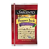 Sargento Sliced Pepper Jack Cheese, combines sliced Monterey Jack cheese with habanero and jalapeno peppers for a burst of spicy flavor, 7.5 oz Package
