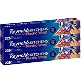 Reynolds Kitchens Quick Cut Plastic Wrap - 225 Sq Ft Roll, Pack of 3