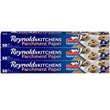 Reynolds Kitchens Parchment Paper Roll with SmartGrid - 3 Boxes of 50 Square Feet (150 Square Feet Total)