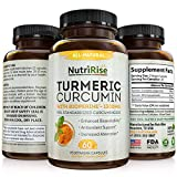 Turmeric Curcumin with BioPerine - #1 Best Joint Supplement for Pain Relief & Joint Support, Vegan Turmeric Capsules with 100% Pure Turmeric Root (Curcuma) & Black Pepper, 60 Turmeric Pills